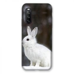 Coque Pour Sony Xperia 10 III (3) Lapin Blanc