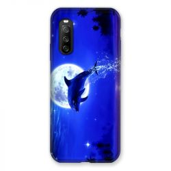 Coque Pour Sony Xperia 10 III (3) Dauphin Lune