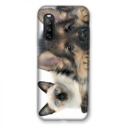 Coque Pour Sony Xperia 10 III (3) Chien vs Chat