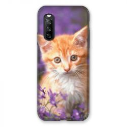 Coque Pour Sony Xperia 10 III (3) Chat Violet