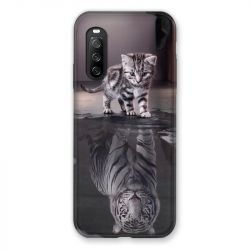 Coque Pour Sony Xperia 10 III (3) Chat Reflet