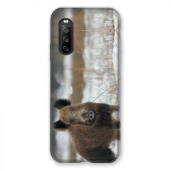 Coque Pour Sony Xperia 10 III (3) Chasse Sanglier Neige
