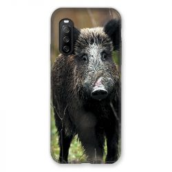 Coque Pour Sony Xperia 10 III (3) Chasse Sanglier bois