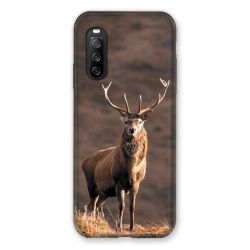 Coque Pour Sony Xperia 10 III (3) Chasse Chevreuil Blanc