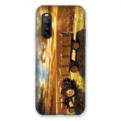 Coque Pour Sony Xperia 10 III (3) Agriculture Tracteur Color