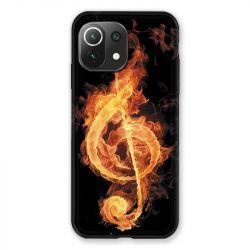 Coque Pour Xiaomi Mi 11 Lite 4G / 5G Musique Clé Sol Feu N