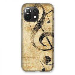 Coque Pour Xiaomi Mi 11 Lite 4G / 5G Musique Clé Sol Vintage