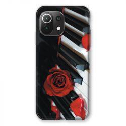 Coque Pour Xiaomi Mi 11 Lite 4G / 5G Musique Rose Piano