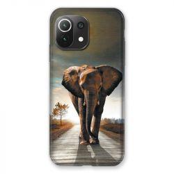 Coque Pour Xiaomi Mi 11 Lite 4G / 5G Savane Elephant Route