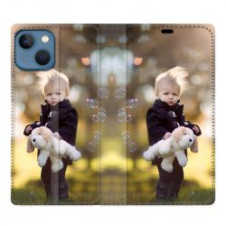 Housse Cuir Portefeuille Pour iphone 13 (6.1) Personnalisee