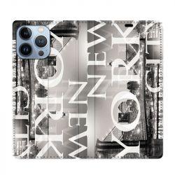 Housse Cuir Portefeuille Pour Iphone 13 Pro Max Amerique USA New York