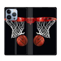 Housse Cuir Portefeuille Pour Iphone 13 Pro Max Panier Basket