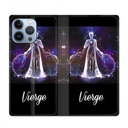 Housse Cuir Portefeuille Pour Iphone 13 Pro Max Signe Zodiaque 2 Vierge