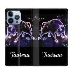 Housse Cuir Portefeuille Pour Iphone 13 Pro Max Signe Zodiaque 2 Taureau