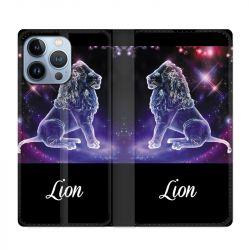 Housse Cuir Portefeuille Pour Iphone 13 Pro Max Signe Zodiaque 2 Lion