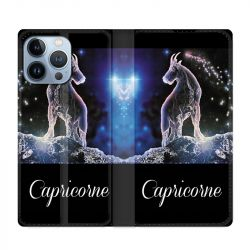 Housse Cuir Portefeuille Pour Iphone 13 Pro Max Signe Zodiaque 2 Capricorne