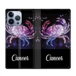 Housse Cuir Portefeuille Pour Iphone 13 Pro Max Signe Zodiaque 2 Cancer
