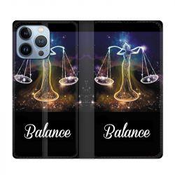 Housse Cuir Portefeuille Pour Iphone 13 Pro Max Signe Zodiaque 2 Balance
