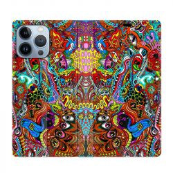 Housse Cuir Portefeuille Pour Iphone 13 Pro Max Psychedelic Yeux