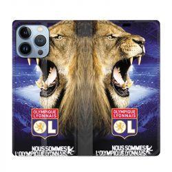 Housse Cuir Portefeuille Pour Iphone 13 Pro Max Licence Olympique Lyonnais - Rage de vaincre