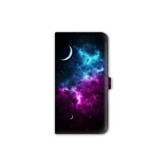 Housse cuir portefeuille Iphone 6 / 6s  Espace Univers Galaxie