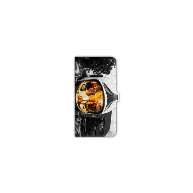 Housse cuir portefeuille cuir Iphone 6  pompier police