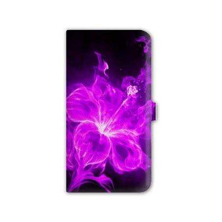 housse cuir portefeuille Iphone 6 plus + fleurs