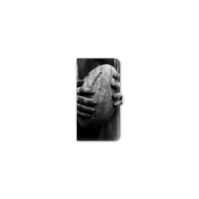 Housse cuir portefeuille Iphone 6 plus / 6s plus  Rugby