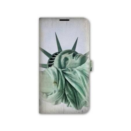 housse cuir portefeuille Iphone 6 plus + Amerique