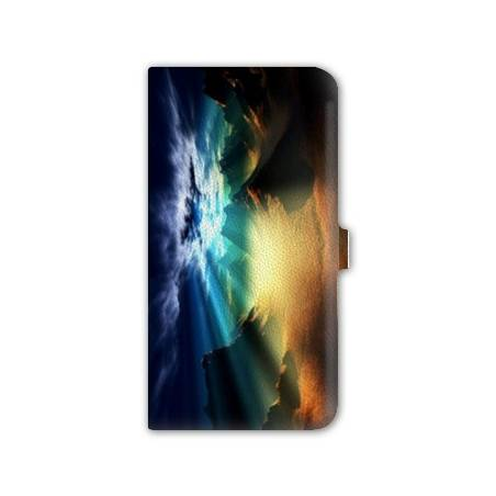 Housse cuir portefeuille Iphone 6  Montagne