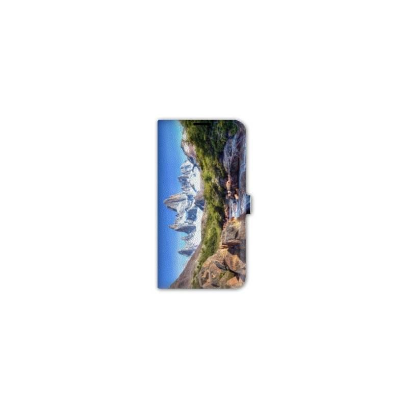 Housse cuir portefeuille Iphone 6 plus / 6s plus  Montagne