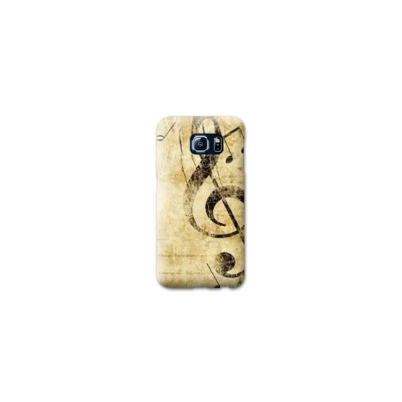 Coque pour Samsung Galaxy S6 EDGE Musique