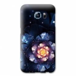 coque s6 galaxy edge fleurs
