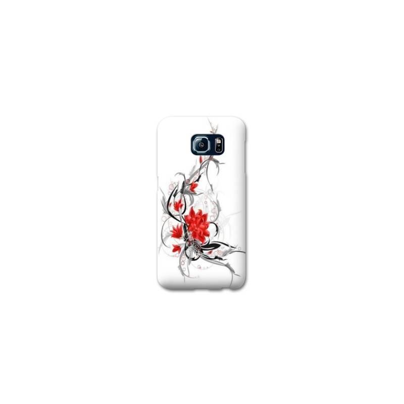 Coque Samsung Galaxy S6 EDGE fleurs