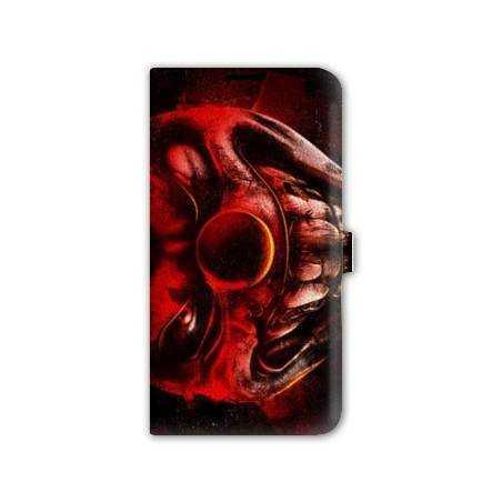 Housse cuir portefeuille Iphone 6 / 6s  Horreur