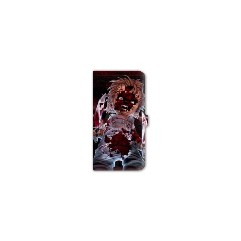 Housse cuir portefeuille Iphone 6 plus / 6s plus  Horreur