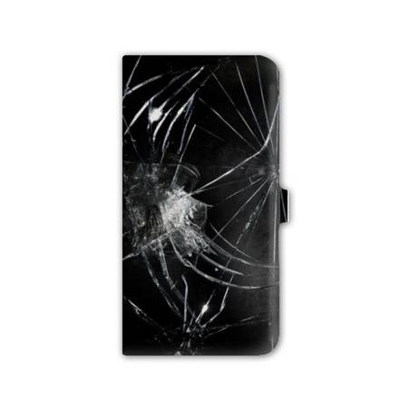 Housse cuir portefeuille Iphone 6 / 6s  Trompe oeil