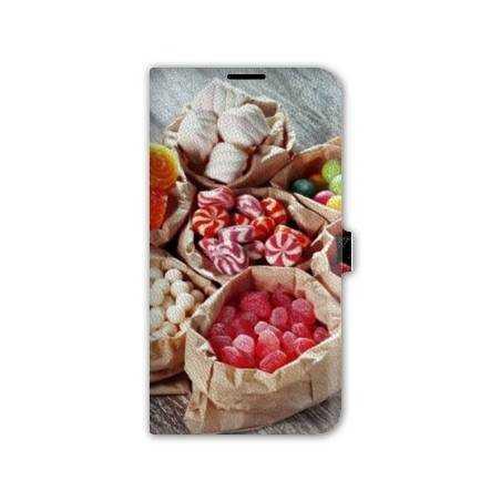 Housse cuir portefeuille Iphone 6 plus / 6s plus  Gourmandise