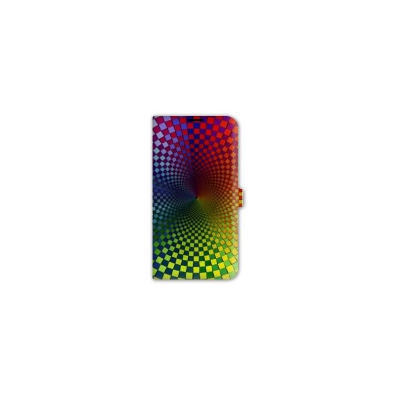 Housse cuir portefeuille pour iphone 6  / 6s Effet Visuel