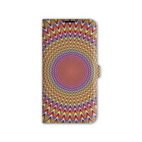 Housse cuir portefeuille Iphone 6 plus / 6s plus  Effet Visuel